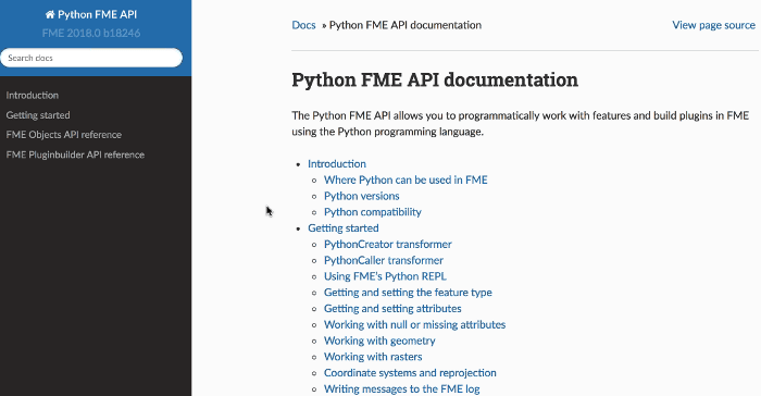 Documentation Python