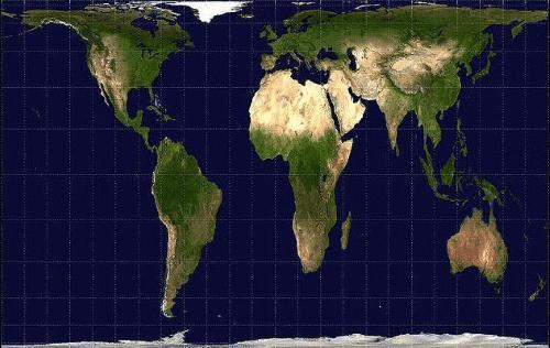Planisphère utilisant la projection de Gall-Peters