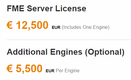 Tarifs de FME Server
