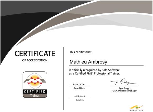 Diplôme de Formateur FME certifié Mathieu Ambrosy