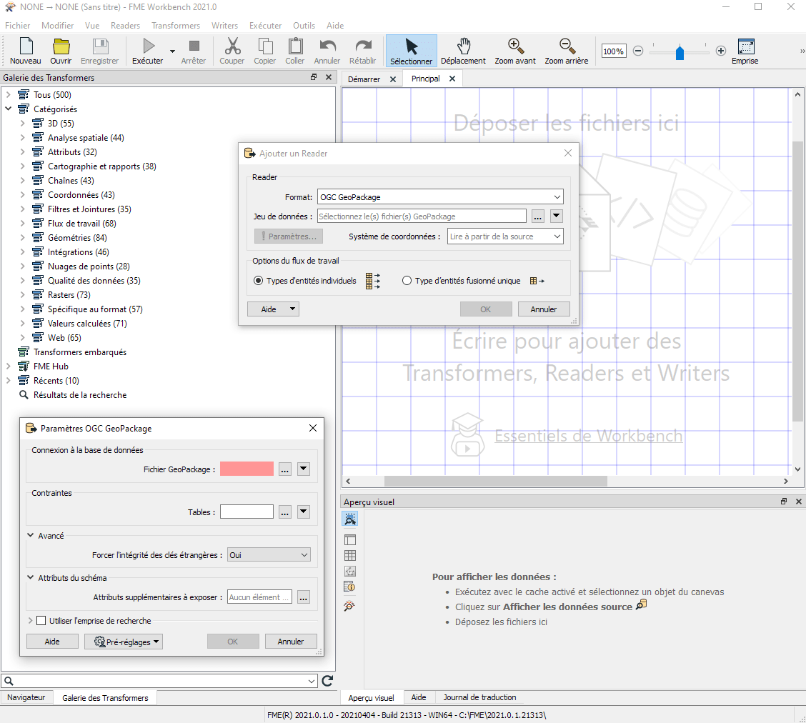 FME Desktop en français