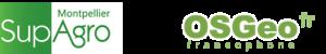 Logo SupAgro et OSGEO